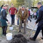 Активисты «Единой России» Приморья, Поволжья, Центрального федерального округа высадили деревья, кустарники и цветы ко Дню Победы