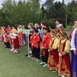 Одинцовские партийцы поприветствовали участников праздника народной игры «Забава»