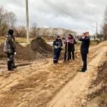 Строительство тротуара на улице Наволокской в Кинешме под контролем