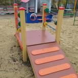 Первомайский район: в детском саду появилась обновленная прогулочная площадка