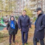 Дмитрий Голубков проверил ход строительства детских площадок в Одинцовском округе