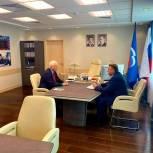 Борис Грызлов провел рабочую встречу с председателем Пермской гордумы Юрием Уткиным