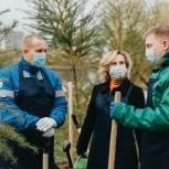 Сенатор Инна Святенко приняла участие в экологической акции, посвященной 75-летию Победы