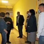 Елена Митина и Елена Волкова посетили пункт временного размещения в селе Вослебово