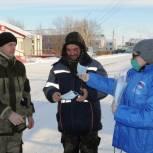 Масочный режим: Красноселькупские активисты волонтерского центра вышли на улицы села