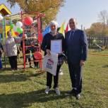 В Благовещенском районе открыли детскую площадку
