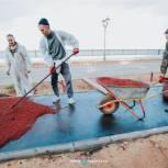 Проинспектирован ход строительства спортплощадок на Московской набережной Чебоксар