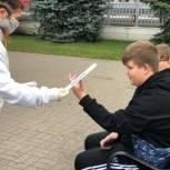 Молодогвардейцы Сергиева Посада провели акцию, направленную на профилактику дорожного травматизма среди детей