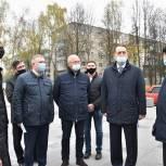 Единороссы Сергиева Посада проконтролировали строительство на площади Пухова в Пересвете