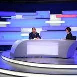 Игорь Руденя в прямом эфире телеканала «Россия 24» Тверь рассказал о ситуации с коронавирусной инфекцией в Верхневолжье
