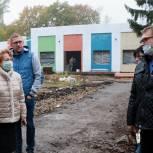 В детском саду № 99 на улице Гоголя продолжается возведение пристройки