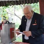В Сараевском районе проголосовал Герой Социалистического Труда Сергей Бакулин