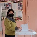 Ольга Чистякова проголосовала на выборах депутатов Госдумы и главы региона