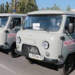 Медикам центральных районных больниц Омской области передали 97 машин