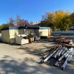 В Советском районе продолжается демонтаж незаконно установленных киосков и торговых павильонов