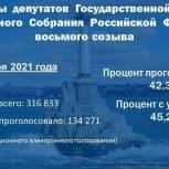 По данным на 18.00 явка на выборах в Севастополе превысила 45%