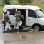 Автоволонтеры работают с врачами поликлиники №1