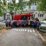 Воспитанники детского сада №5 города Касли встретились с сотрудниками МЧС