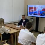 Депутат Максим Колесников провел урок «Ростов — твое будущее».