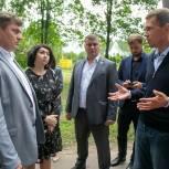 Никита Чаплин обсудил с жителями Коломны план благоустройства парка им. 50-летия Октября
