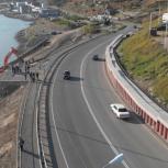 В Магадане открыли двустороннее автомобильное движение по укрепленному участку Портового шоссе