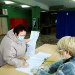Альбина Егорова приняла участие в голосовании