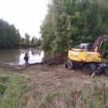 В селе Бибирево Ивановского района очистили пруд