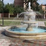 В рабочем поселке Сараи установили фонтан
