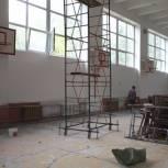 В школе № 59 ремонтируют спортивный зал