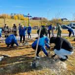 «Единая Россия» на Ямале высадила деревья в честь юбилея российского парламентаризма