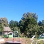 Народная программа работает – в Оленино появилась новая детская площадка, остановочный павильон и была отремонтирована дорога
