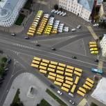 Регионы получили новую партию школьных автобусов и машин скорой помощи