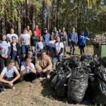 Единороссы убрали мусор вблизи деревни Лаптева