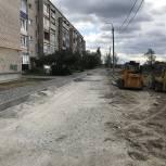 В Кыштыме завершаются работы по благоустройству внутридомовой территории по адресу улица Калинина, дом 178