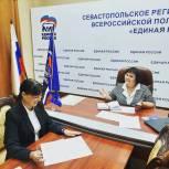 Инна Гончарова помогла оперативно решить проблемы севастопольцев, обратившихся к ней на приеме