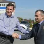 Губернатор Евгений Куйвашев посетил новый микрорайон города Полевского