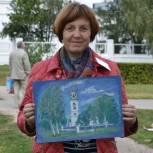 Заслуженный художник РФ проголосовала на своем избирательном участке в Михайловском районе