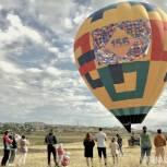 В честь Дня города над Элистой пролетел воздушный шар
