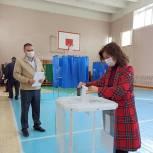 Яна Куприна приняла участие в голосовании