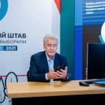 Сергей Собянин принял участие в электронном голосовании на выборах в Госдуму
