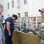 На избирательном участке в центре Ростова развернули экспозицию поисковой организации «СКИФ»
