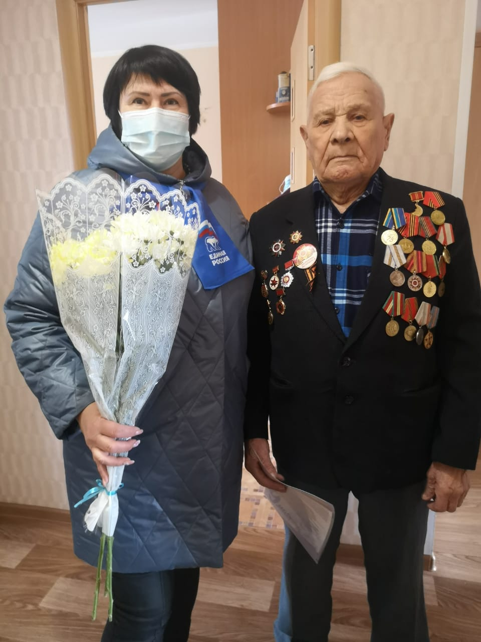 Кировский район Красноярска. Поздравление ветеранов.