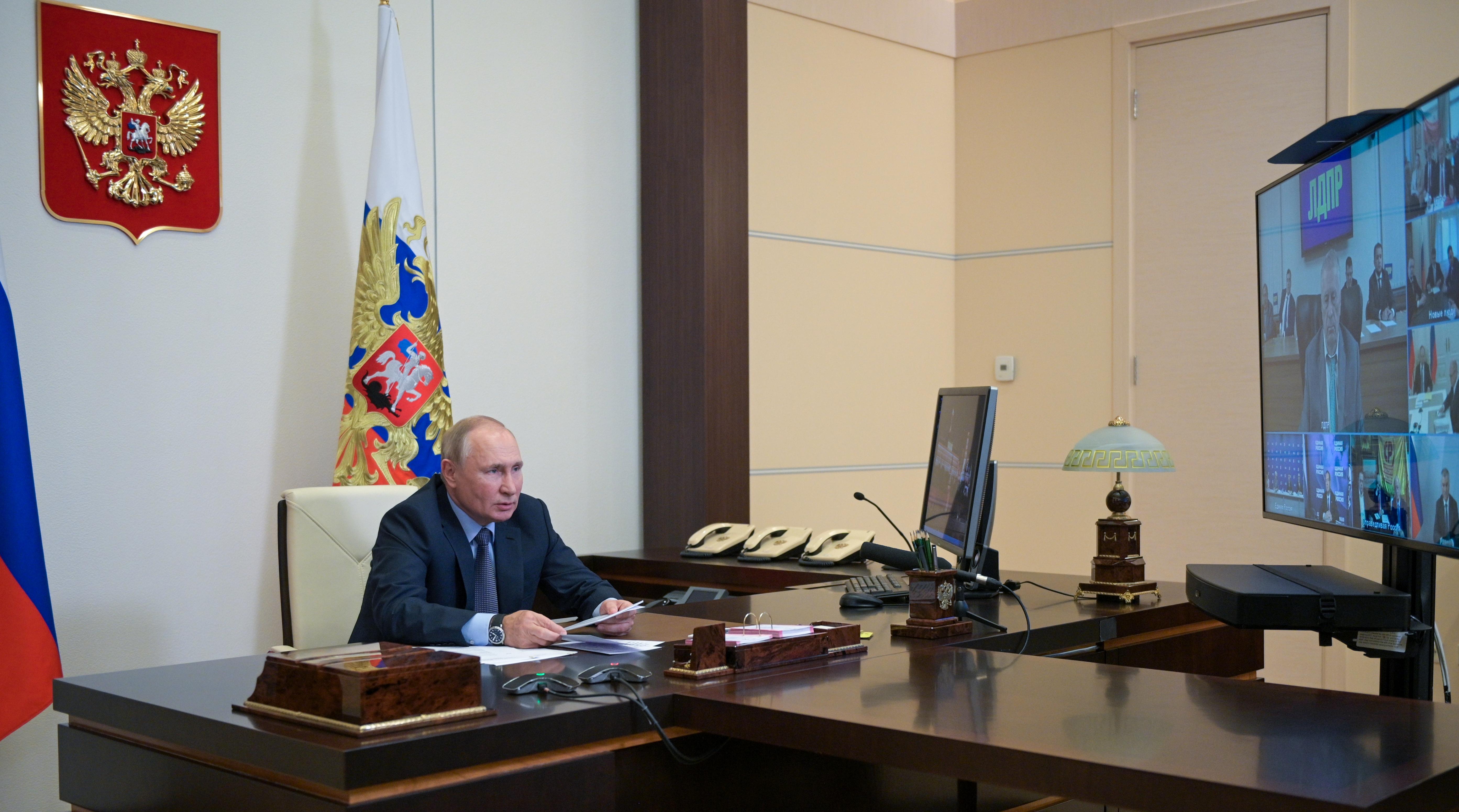 Владимир Путин провел встречу с руководством политических партий