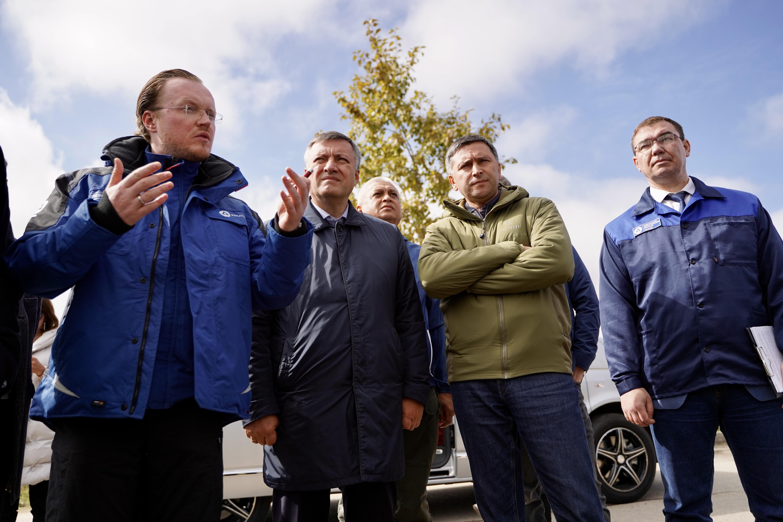 Дмитрий Кобылкин и Игорь Кобзев ознакомились с ходом рекультивации территории «Усольехимпрома»