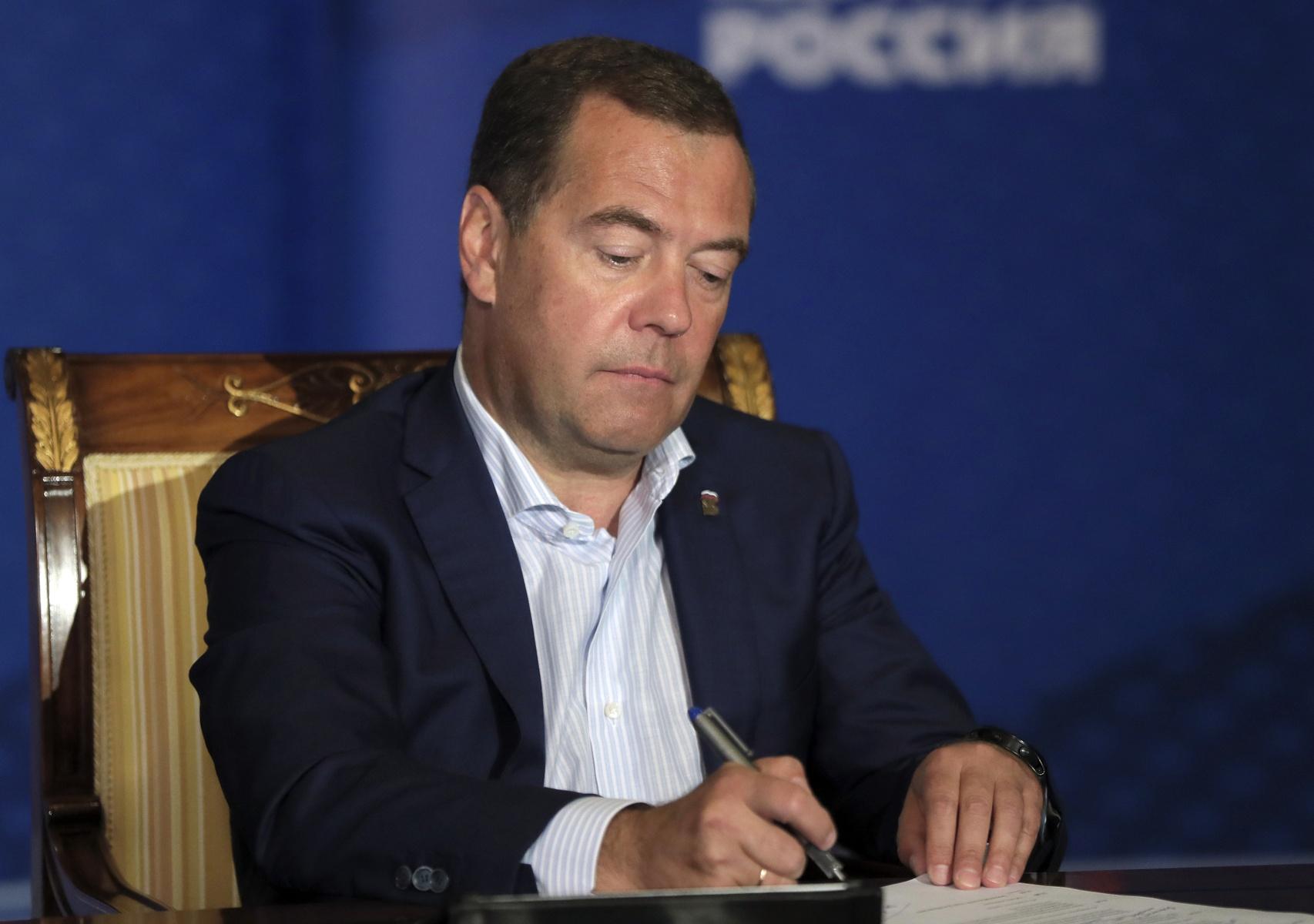 Дмитрий Медведев провел онлайн-встречу с участниками кадрового конкурса партии «ПолитСтартап» Фото: Екатерина Штукина/РИА Новости