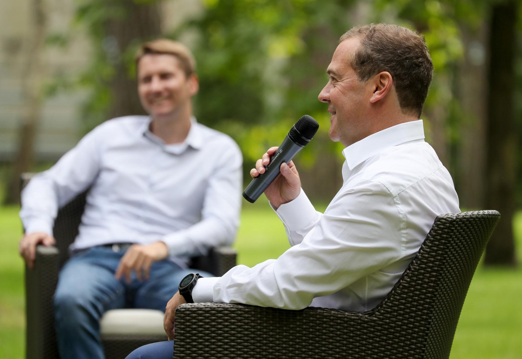 Встреча Дмитрия Медведева с участниками кадрового проекта «ПолитСтартап». Фото: Екатерина Штукина