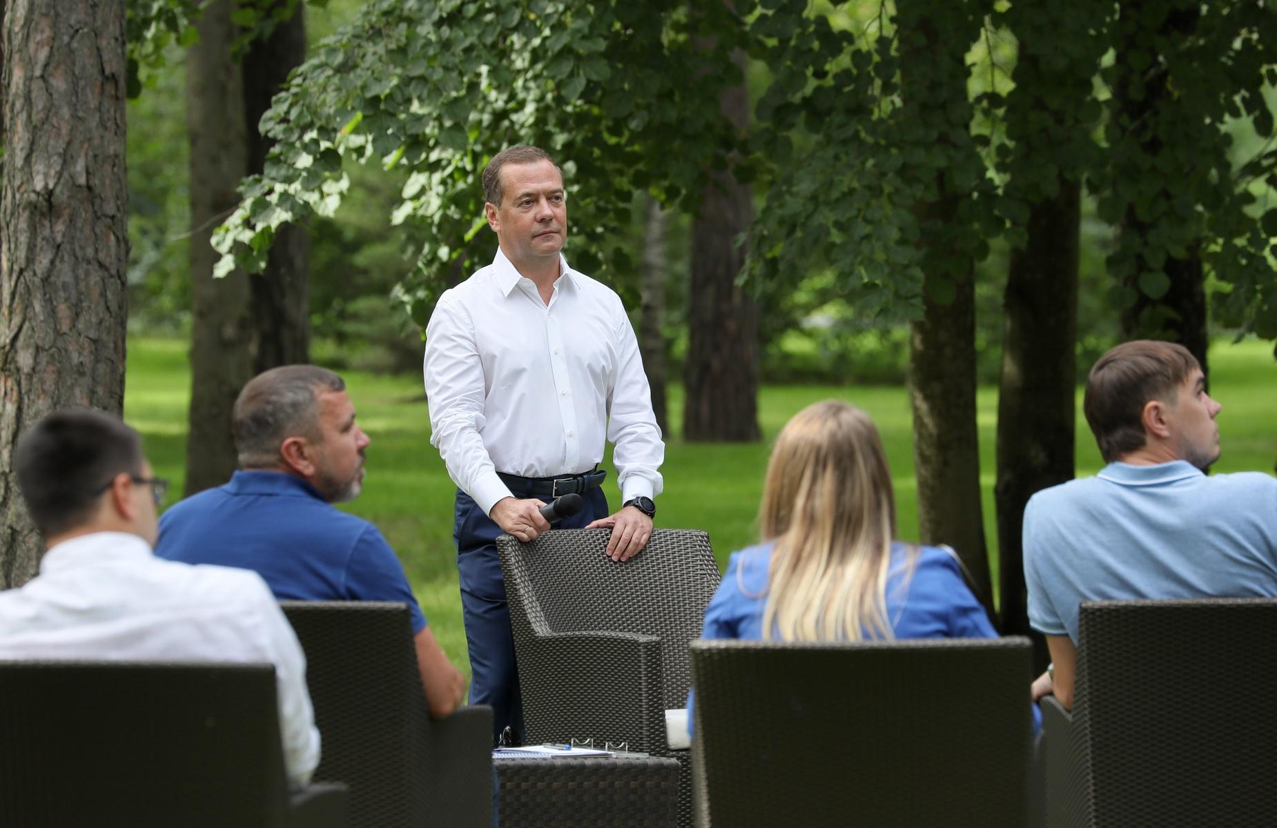 Встреча Дмитрия Медведева с участниками кадрового проекта «ПолитСтартап»