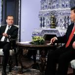 Медведев отметил символичность визита председателя КНР в Россию