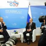 Путин: Италия остается привилегированным партнером РФ