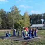 В поселке Каширин Александро-Невского района открылась детская площадка с уличными тренажерами